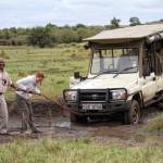 Jeep im Sumpfloch