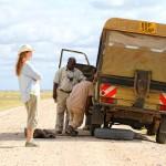 Reifenwechsel am Jeep