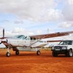 Cessna und Jeep